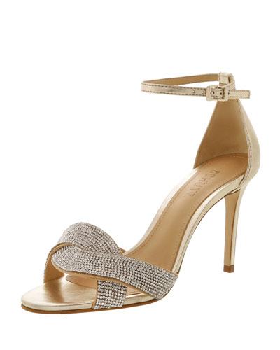 Jolita Crystal-Embellished Evening Sandals