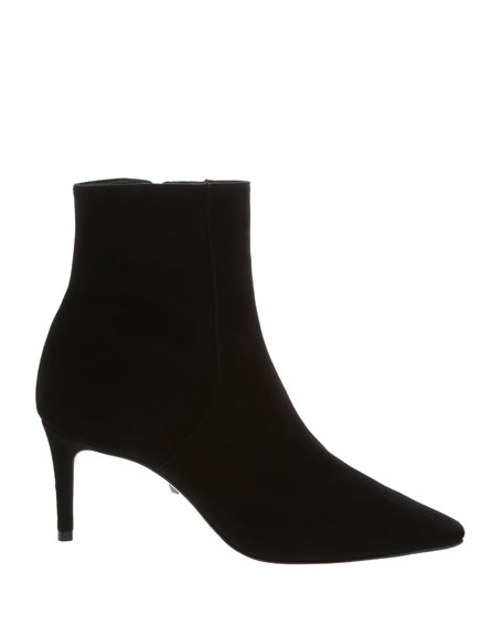 Schutz Bette Suede Pointed-Toe Ankle Booties