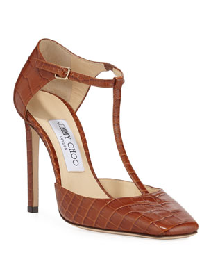beeb60b1ef Jimmy Choo Lexica Mock Crocodile Pumps