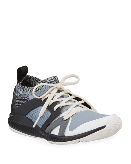 adidas by Stella McCartney Crazytrain Pro Lace-Up Neoprene Running Sneakers