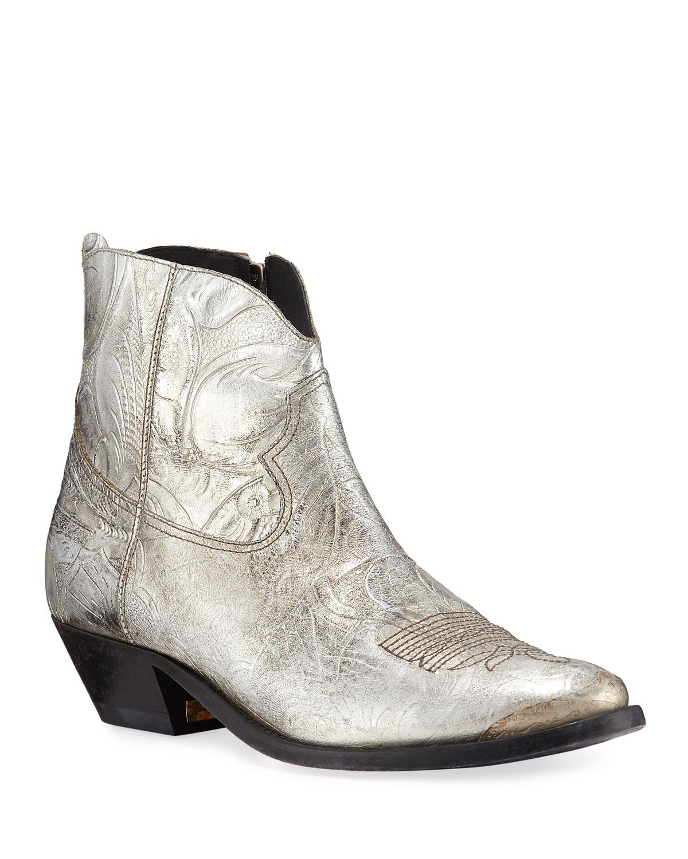 Golden Goose Young Metallic Western