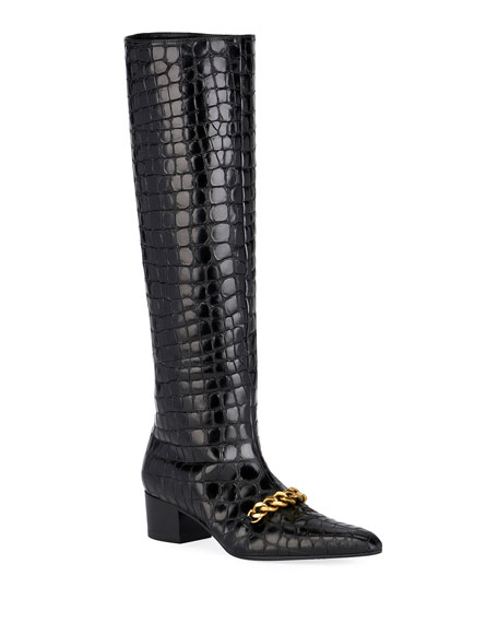 TOM FORD Super Embossed Crocodile Boots