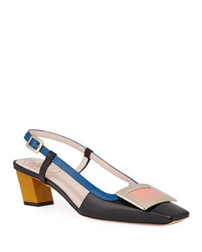 Belle Pilgrim Slingback Pumps  Multi