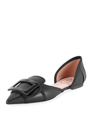 580cd47a69 Roger Vivier Soft Gommettine d Orsay Ballet Flats