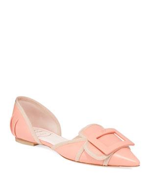 64172972f47 Roger Vivier Soft Gommette Ballet Flats
