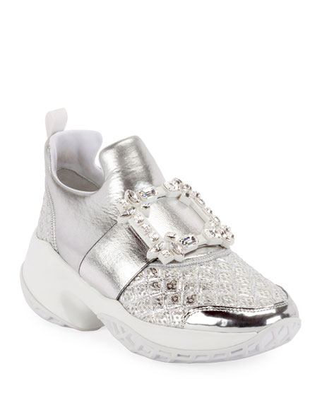 Roger Vivier Viv Run Strass Buckle Sneakers
