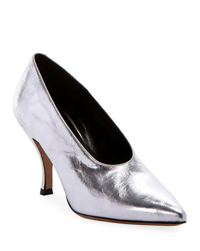 Pointed Metallic Pumps