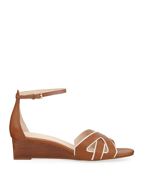 Cole Haan Hanna Grand Demi-Wedge Leather Sandals