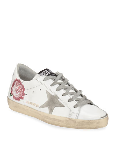Superstar Peony Leather Low-Top Sneakers