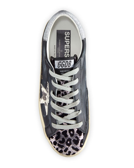 Golden Goose Superstar Python & Leopard Print Sneakers