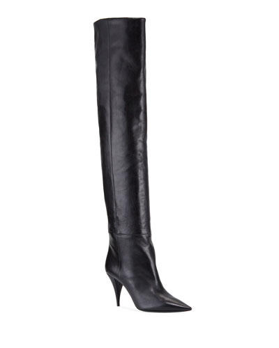 Kiki Leather Over-The-Knee Boots
