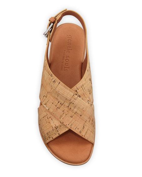 Gentle Souls Prisca Cork Slingback Sandals