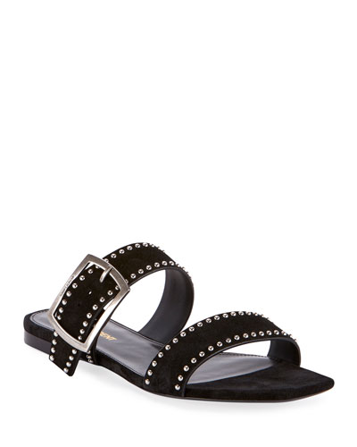 Oak Flat Suede Sandals