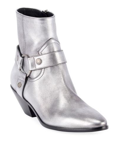 West Metallic Harness Booties