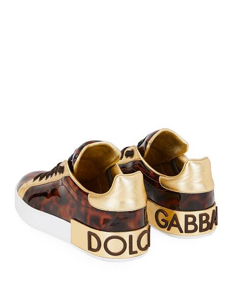 Dolce & Gabbana Portofino Patent Sneakers