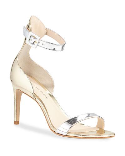 Nicole Mixed Mid-Heel Sandals