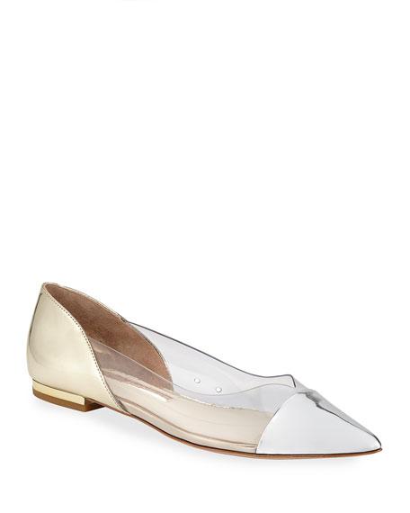 Sophia Webster Daria Mixed PVC Ballet Flats
