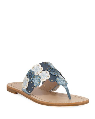 Lottie Link Tea Rose Flat Thong Sandals