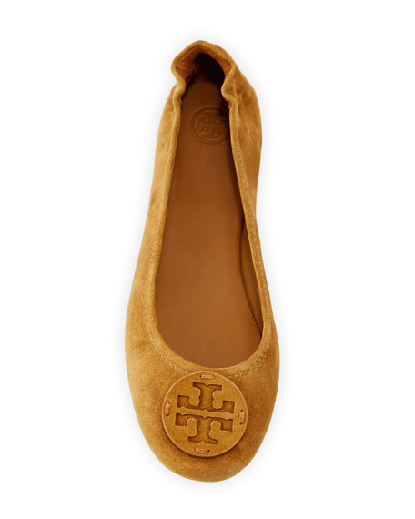 Tory Burch Mini Travel Suede Ballet Flats
