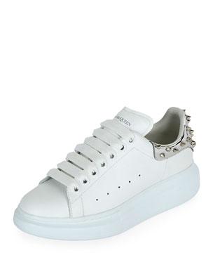 229203dd01287 Alexander McQueen Spike-Heel Leather Platform Sneakers