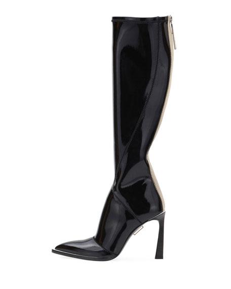 Fendi Neoprene To-The-Knee Boots, Black