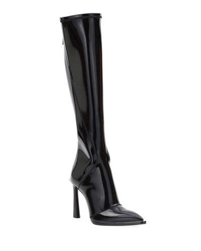 Neoprene To-The-Knee Boots  Black