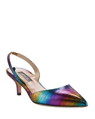 954c4824aa SJP by Sarah Jessica Parker Bliss Rainbow Metallic Low-Heel Pumps
