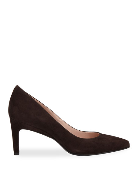 Taryn Rose Collection Gabriela Suede Low-Heel Point-Toe Pumps