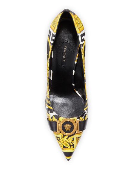Versace Savage Barocco Slip-On Pumps
