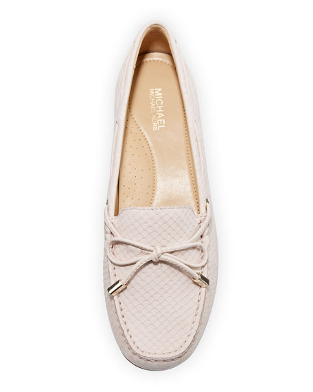 MICHAEL Michael Kors Sutton Snake-Embossed Bow Loafers