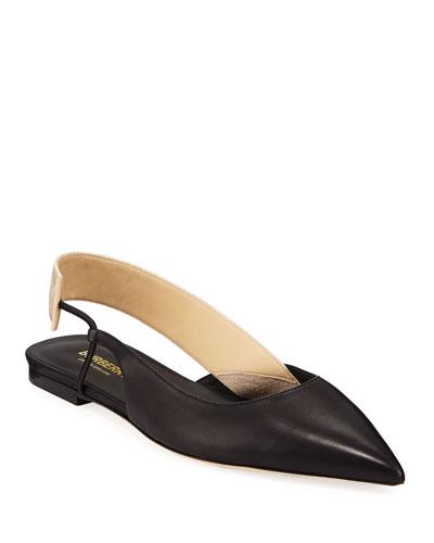 Marie Asymmetric Slingback Ballet Flats