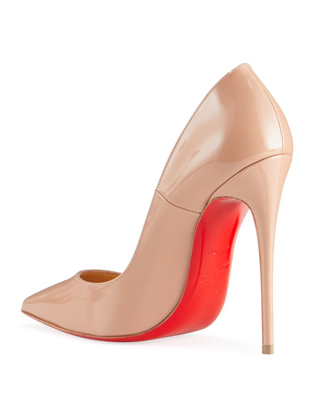 Image 4 of 4: Christian Louboutin So Kate Patent Pointed-Toe Red Sole Pump