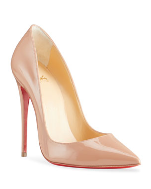 4197cd328074 Christian Louboutin So Kate Patent Pointed-Toe Red Sole Pump