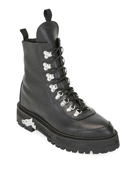 Image 1 of 3: Leather Lace-Up Hiking Boots
