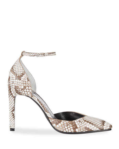 Givenchy Show d'Orsay Python Pumps