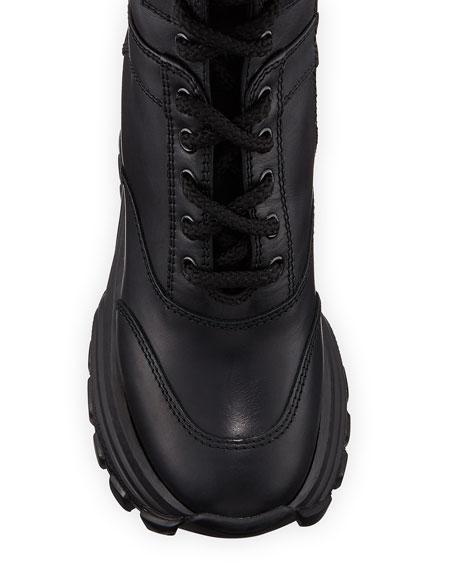 Miu Miu Leather Chunky Lace-Up Boots