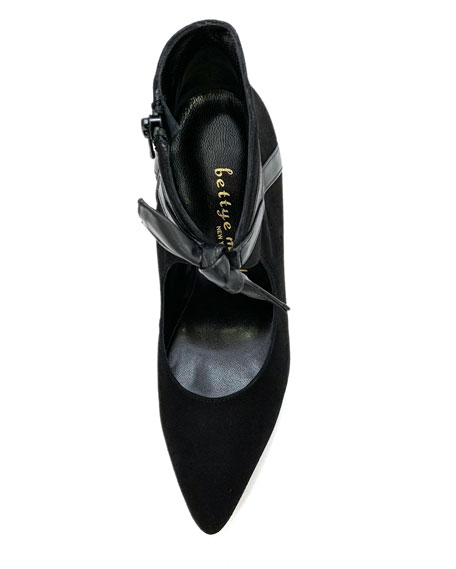 Bettye Muller Concept Suede Zip Pumps with Bows