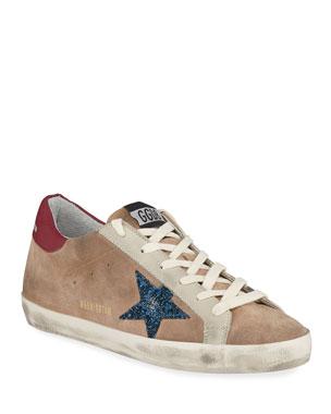 2c3f323d276e Golden Goose Superstar Desert Snake-Print High-Top Sneakers