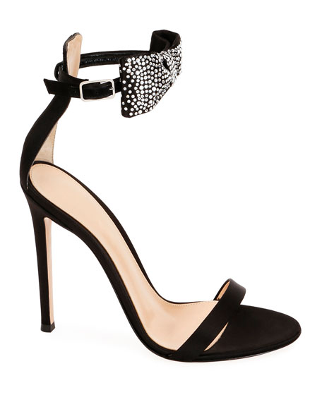Gianvito Rossi Crystal Bow 105mm Sandals