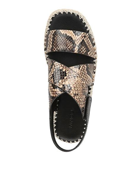 Vince Tenison Snake-Print Sandals