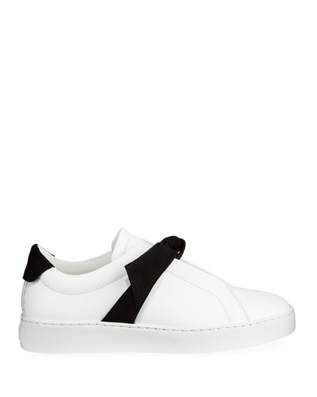 Image 2 of 3: Alexandre Birman Clarita Two-Tone Sneakers, White/Black