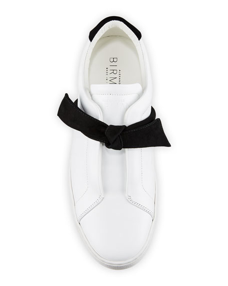 Image 3 of 3: Alexandre Birman Clarita Two-Tone Sneakers, White/Black