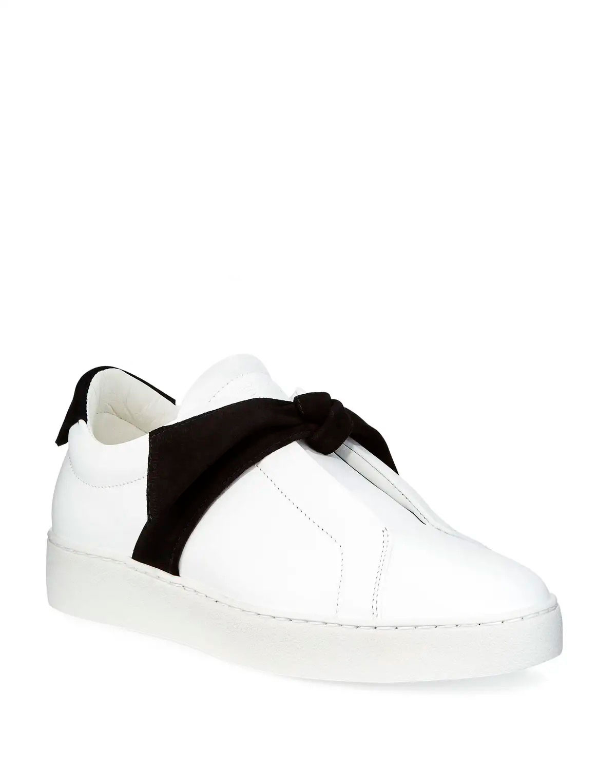 Alexandre Birman Clarita Two-Tone Sneakers, White/Black