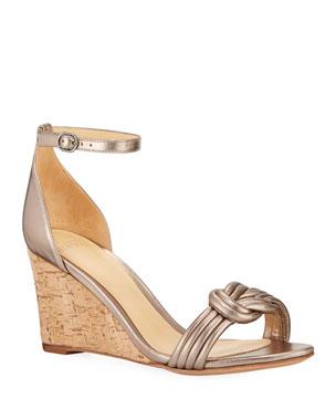 c23b8ea2f7866 Alexandre Birman Vicky 75mm Leather Wedge Sandals