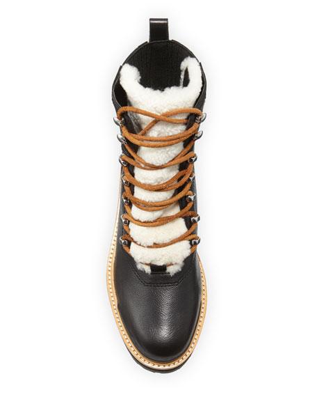 Marc Fisher LTD Izzie Shearling Fur Hiker Boots