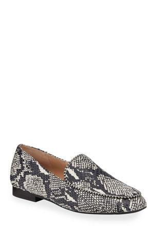 Coach Harper Snake-Print Loafers