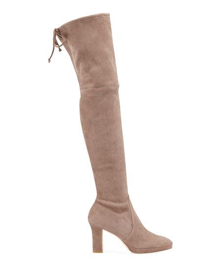Stuart Weitzman Ledyland Suede Over-The-Knee Boots
