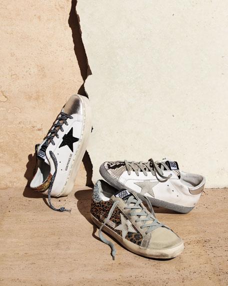 Golden Goose Superstar Leopard Embellished Sneakers