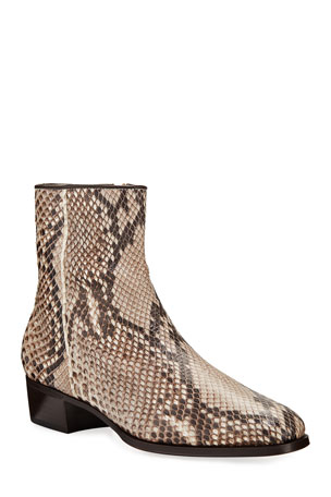 Gravati Python Side-Zip Booties