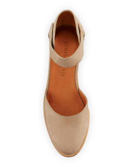 Gentle Souls Blaise Nubuck Leather Wedge Pumps